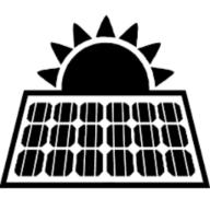 Un ícono de un panel solar en negro